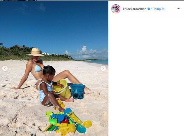 Khloe Kardashian'ın pozları sosyal medyayı salladı