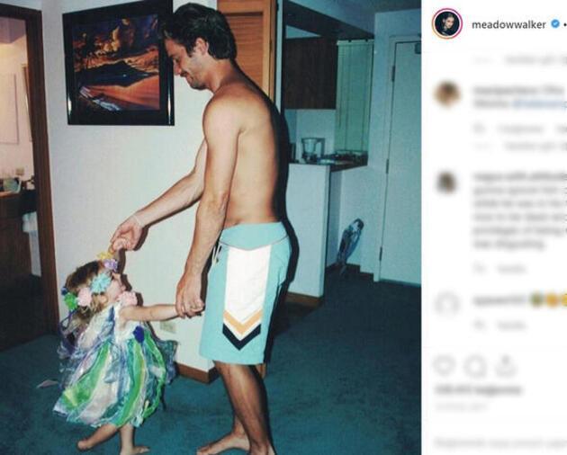 Ünlü aktör Paul Walker'ın kızı Meadow Rain'den duygulandıran paylaşım