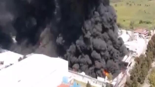 Bütün şehir dumanla kaplandı! Bölge boşaltıldı
