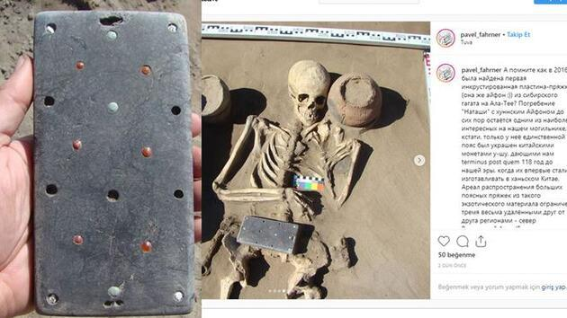 Rusya'da iPhone benzeri 2 bin 100 yıllık nesne bulundu