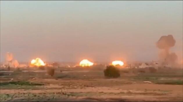 ABD saldırdı, o anları paylaştı: 36 ton bomba attılar!