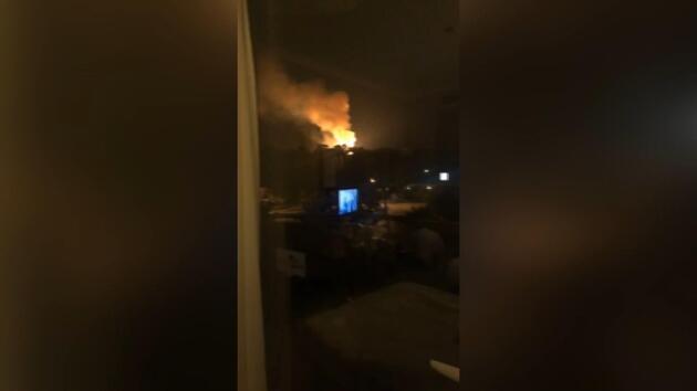 Son dakika... KKTC'de askeri bölgede meydana gelen patlamadan ilk kareler