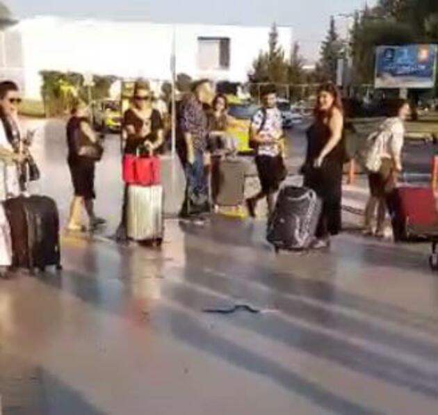Havalimanında yılan paniği