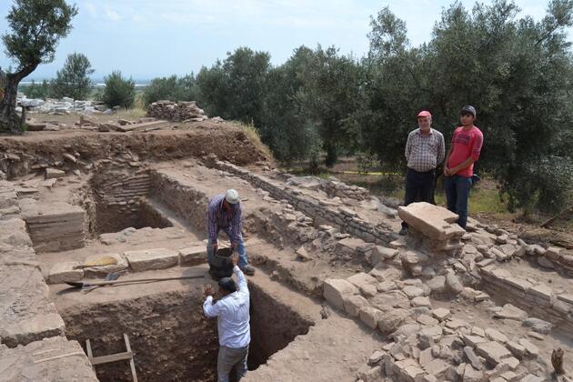 Antik kent Sardes'te büyük depremin kalıntıları bulundu