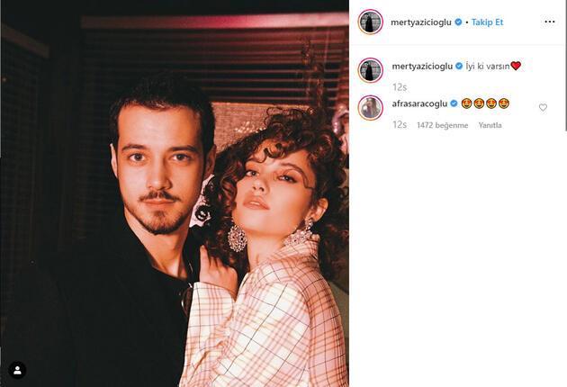 Afra Saraçoğlu sevgilisi Mert Yazıcıoğlu ile 1. yılını kutladı