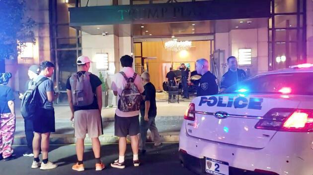 Trump Plaza'da panik dolu anlar: 3 yaralı