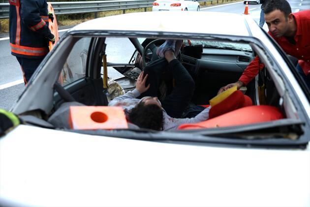 Anadolu Otoyolu'nda zincirleme kaza: Yaralılar var