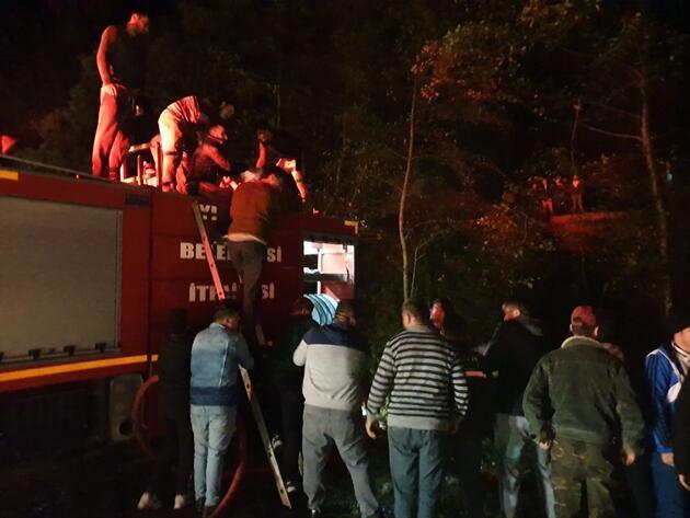 Düzce'de 3 katlı ev kül oldu: Yaralılar var