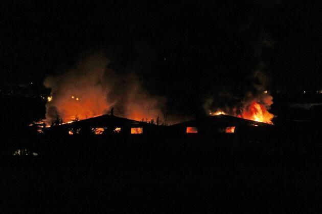 Kırklareli'nde gece yarısı fabrikada yangın