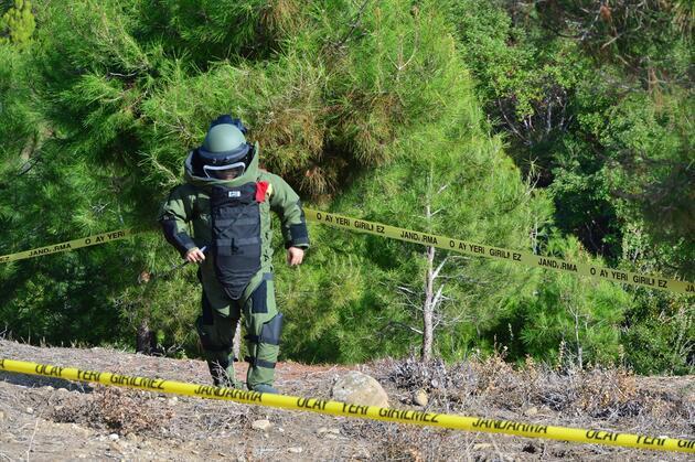 Çanakkale'de bulunan el bombası fünye ile patlatıldı