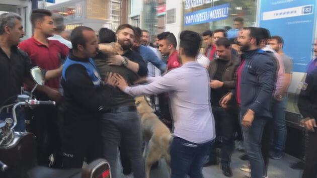 Kavgaya polisten köpekli müdahale