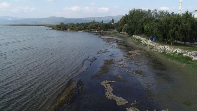 Marmara'nın en büyük gölü İznik, 25 metre çekildi