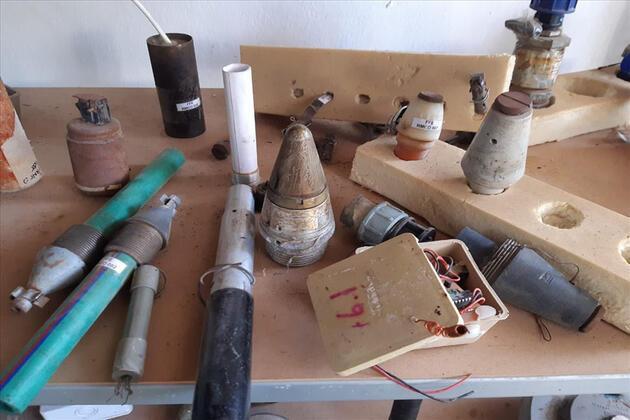 Tel Abyad'da mayın eğitim ve depolama tesisi bulundu