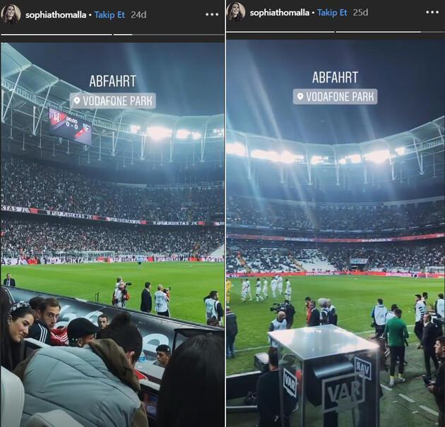 Beşiktaş maçını izlemeye geldi