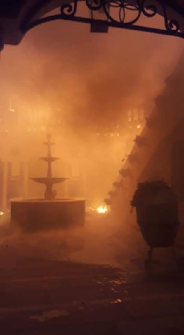 Tatil beldesinde otelde yangın