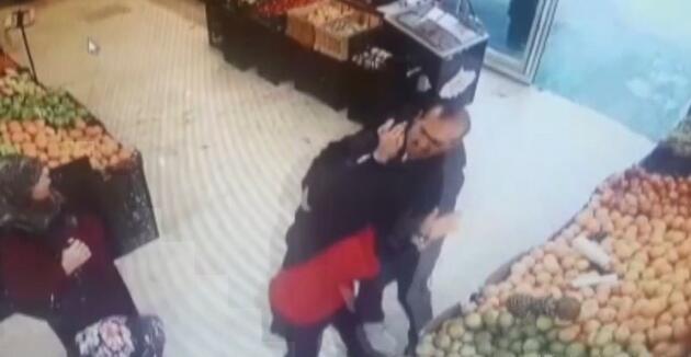Markette defalarca bıçaklanan kızın yardım çığlığı