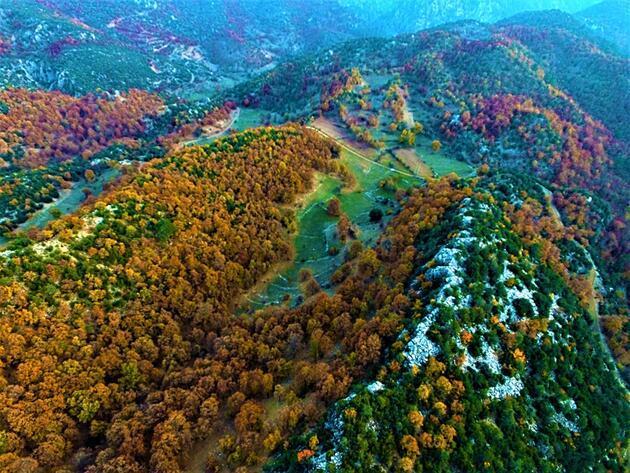 Karanlıkdere Kanyonu'nda sonbahar güzelliği