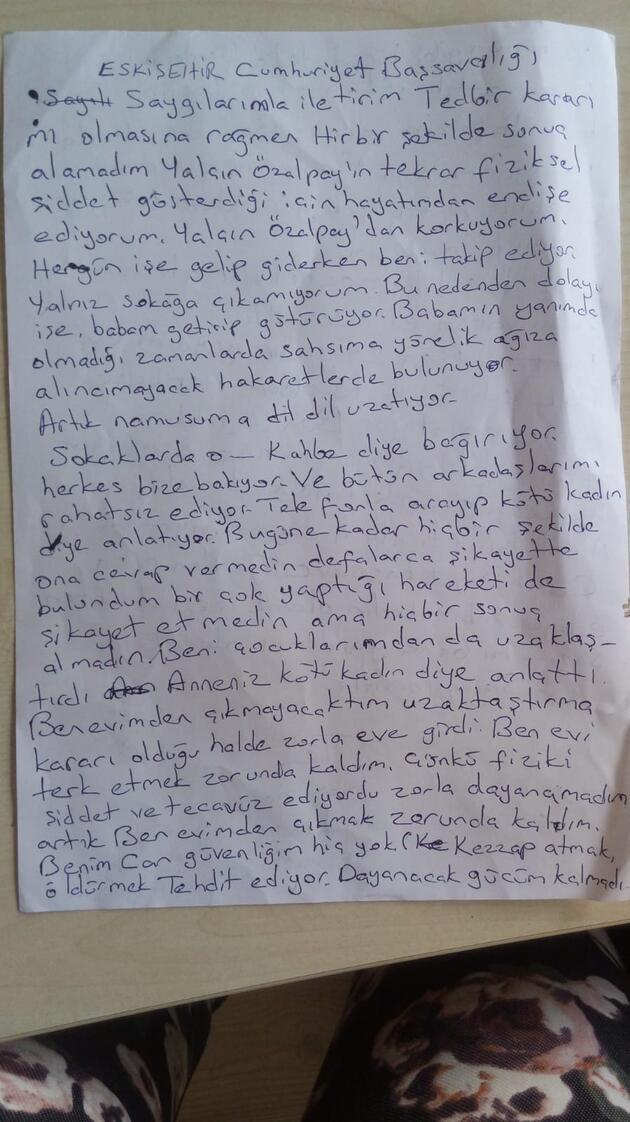 Öldürülen Ayşe Tuba Arslan'ın yeni bir şikayet dilekçesi ortaya çıktı