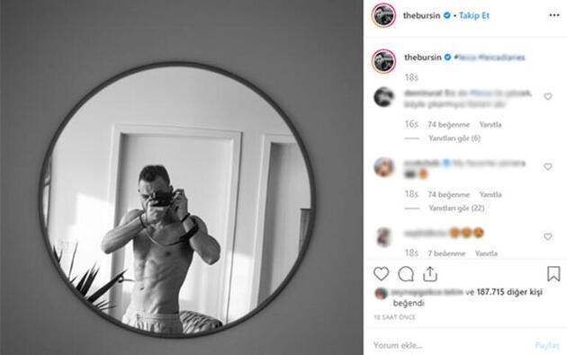 Kerem Bürsin'in ayna pozu sosyal medyayı salladı
