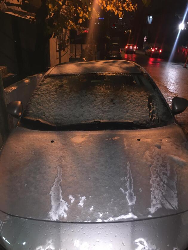 İstanbul'da mevsimin ilk karı yağdı