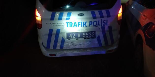 Konya'da alkollü sürüyüce 10 bin TL'lik ceza!