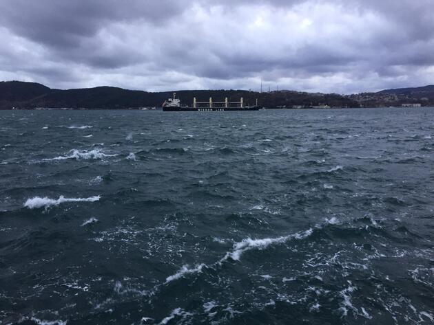 İstanbul'da fırtına etkili olmaya başladı
