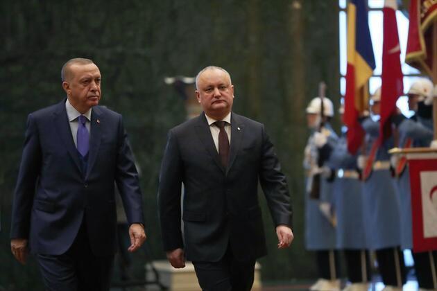 Moldova Cumhurbaşkanı Dodon Ankara'da