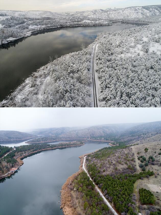 Geçen yıl beyaza bürünen bazı yerler şimdi çok farklı