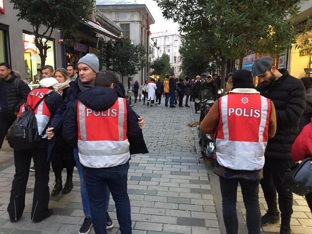 İstiklal Caddesi'ne çıkan yollarda güvenlik önlemi