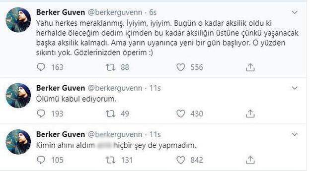 Berker Güven'in mesajı hayranlarını korkuttu