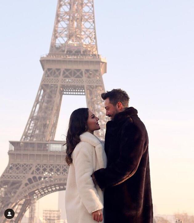 Sosyal medyada ilan ettiler... Paris'te aşk başkadır!