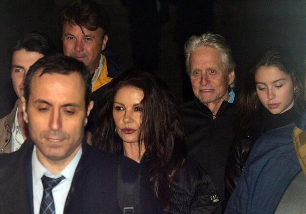Catherine Zeta-Jones ve Michael Douglas özel izinle Ayasofya Müzesi'ni gezdi