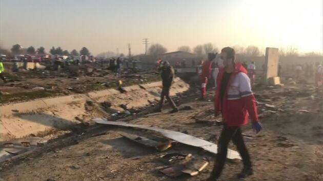 Ukrayna Havayolları'na ait uçak düştü: İşte ilk görüntüler