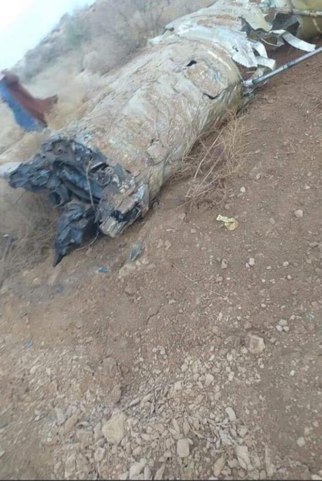Irak medyası yayınladı! Hit şehrine düşen ve patlamayan İran füzesinin fotoğrafları