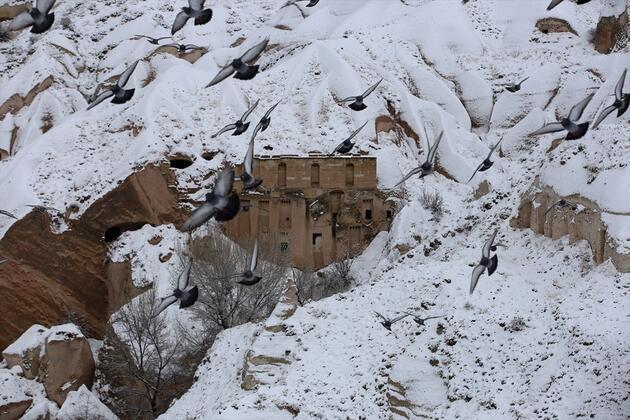 Tarihi şehirde kış: Peri masalı gibi