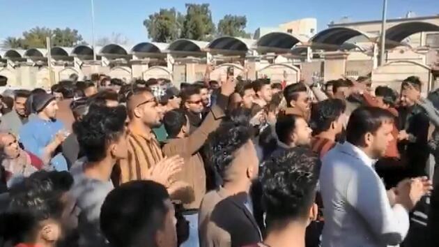 İran'daki protestolarda dikkat çeken görüntü