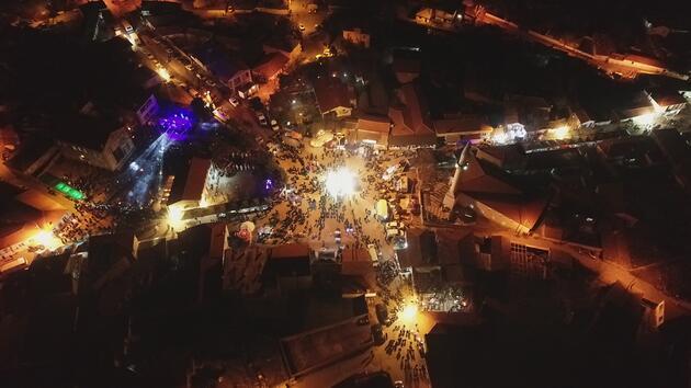 Edirne'de, Balkan geleneği 'Bocuk Gecesi' kutlandı