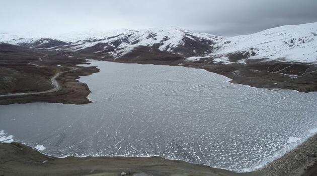 Donan göller yürüyüş parkuruna döndü