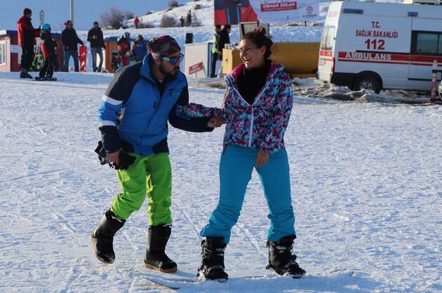 Denizli'nin ikinci beyaz cenneti kayak merkezinde sömestir yoğunluğu