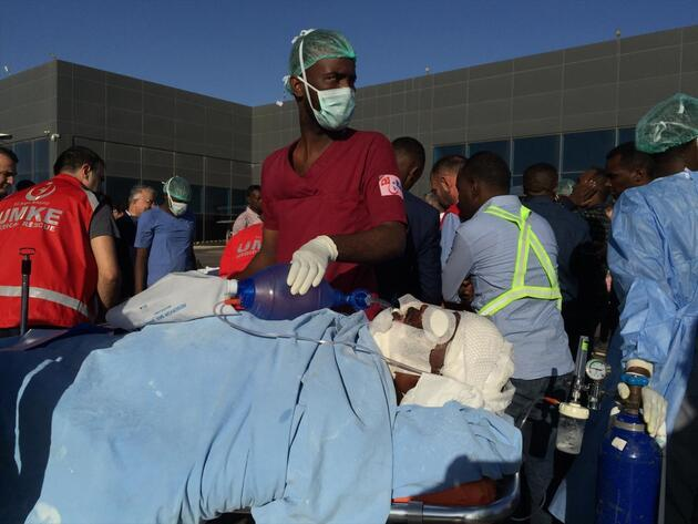 Somali'deki yaralıları Türkiye'ye getirecek uçak Ankara'ya hareket etti