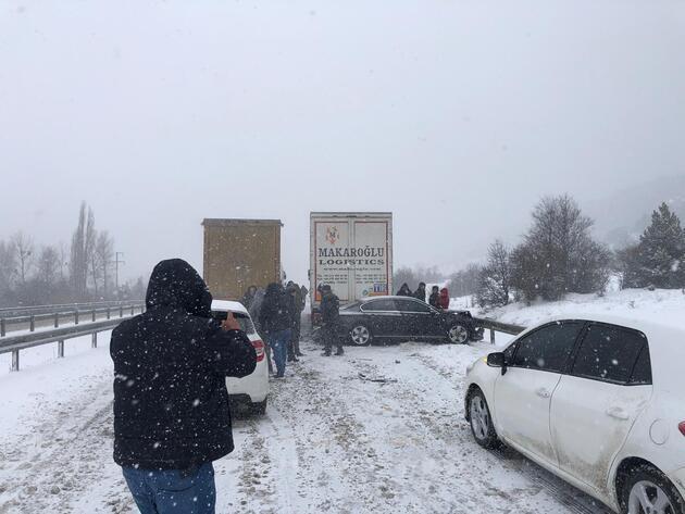 Gerede- Karabük yolunda zincirleme kaza
