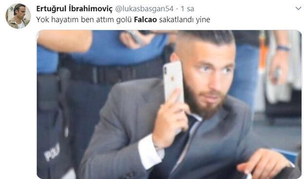 Taraftarı şaşkına çeviren futbolcu