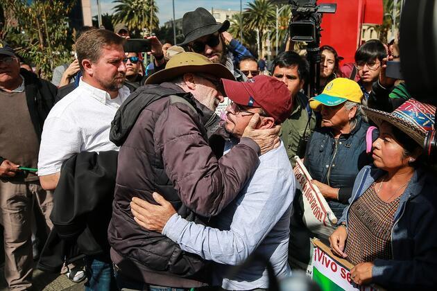 Meksika'da suç mağdurlarından protesto