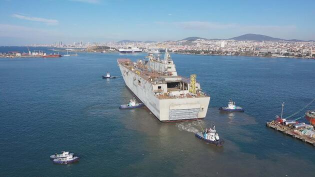Türkiye'nin ilk uçak gemisi! İşte 'TCG Anadolu'nun özellikleri