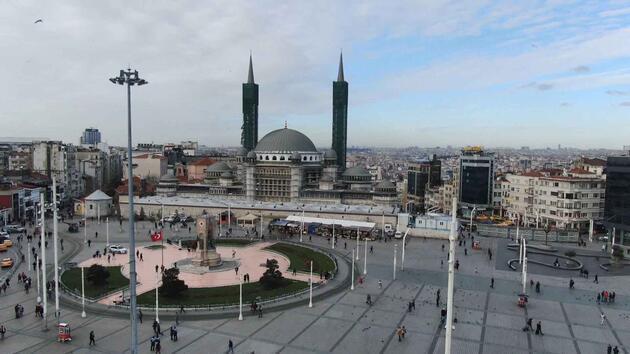 İşte Taksim Camii inşaatında son durum