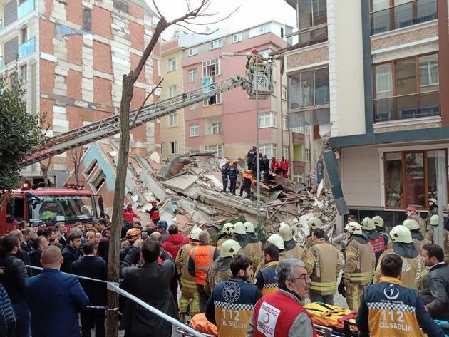 Bahçelievler'de 7 katlı bina çöktü; İşte ilk görüntüler