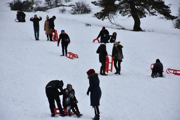 Karabük'te kayak keyfi