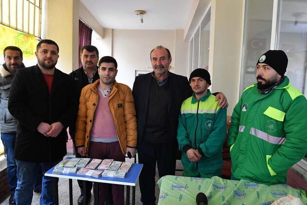 Temizlik işçisi, sokakta bulduğu 110 bin lirayı sahibine teslim etti