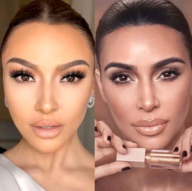 Hadise paylaşımıyla Kim Kardashian'a benzetildi