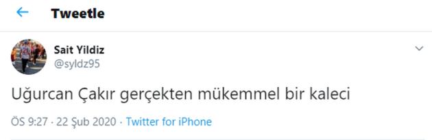 Uğurcan Çakır'ın performansı sosyal medyayı salladı
